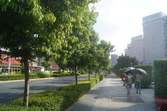 Shenzhen, China: City Road Traffic Stock Photo