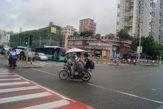Shenzhen, China: City Road Traffic Royalty Free Stock Image
