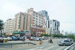Shenzhen, China: City Road Traffic Royalty Free Stock Photos