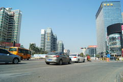 Shenzhen, China: City Road Traffic Royalty Free Stock Photography
