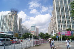 Shenzhen, China: City Road Traffic Stock Images