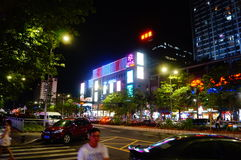 Shenzhen, China: city road traffic in the night landscape Stock Image