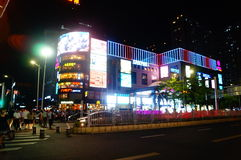 Shenzhen, China: city road traffic in the night landscape Stock Photos