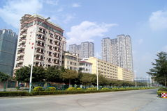 Shenzhen, china: city roads and buildings Stock Photos