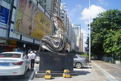 Shenzhen, China: city sculpture landscape Royalty Free Stock Photo