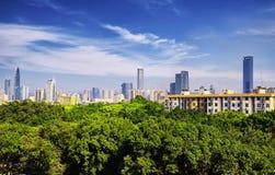 Shenzhen China City skyline stock images