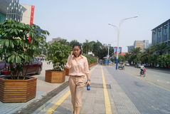 Shenzhen, China: city street landscape Stock Photos