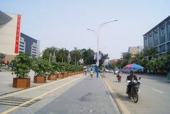 Shenzhen, China: city street landscape Royalty Free Stock Image