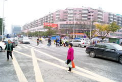 Shenzhen china: the city traffic Royalty Free Stock Photo