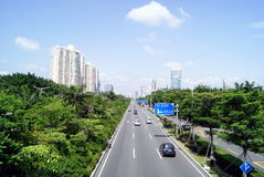 Shenzhen china: city traffic Stock Photography