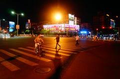 Shenzhen, China: city traffic landscape at night Stock Photo