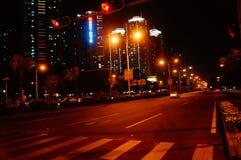 Shenzhen, China: city traffic landscape at night Stock Photography