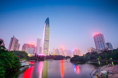 Shenzhen, China Cityscape Stock Photos
