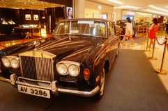 Shenzhen, China: the classic brand auto show shows some classic cars of history. The classic brand auto show shows some classic cars. In Shenzhen, China royalty free stock photos
