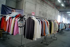 Shenzhen, china: clothing discount sales Royalty Free Stock Photo
