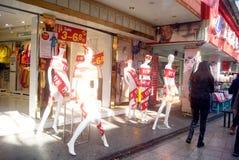 Shenzhen, china: clothing plastic models Stock Photography