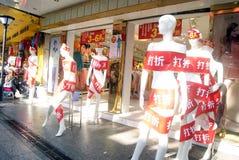 Shenzhen, china: clothing plastic models Royalty Free Stock Photography