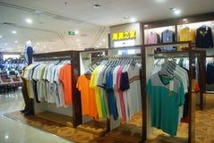 Shenzhen, China: clothing sales. Shenzhen Baoan Xixiang times city shopping plaza, clothing sales Stock Photo