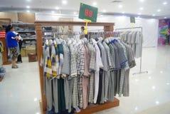 Shenzhen, China: clothing sales. Shenzhen Baoan Xixiang times city shopping plaza, clothing sales Royalty Free Stock Photo