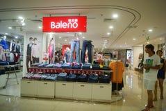 Shenzhen, China: clothing sales. Shenzhen Baoan Xixiang times city shopping plaza, clothing sales Stock Photos
