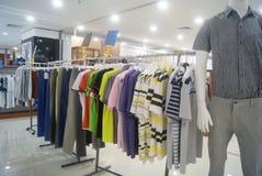 Shenzhen, China: clothing sales. Shenzhen Baoan Xixiang times city shopping plaza, clothing sales Stock Image