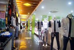 Shenzhen, China: clothing store Royalty Free Stock Photography