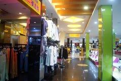 Shenzhen, China: clothing store Royalty Free Stock Photo