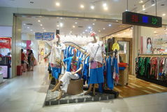Shenzhen, China: clothing store Stock Photography