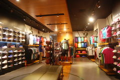 Shenzhen, China: clothing store Royalty Free Stock Photography
