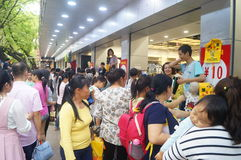 Shenzhen, China: clothing store crowded shopping Royalty Free Stock Photo