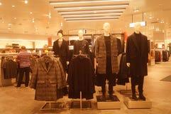 Shenzhen, China: clothing store interior landscape, newly listed clothing Royalty Free Stock Image