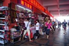 Shenzhen, China: clothing wholesale market Stock Photography