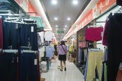 Shenzhen, China: clothing wholesale market Royalty Free Stock Images