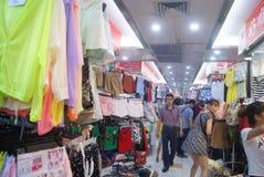 Shenzhen, China: clothing wholesale market Royalty Free Stock Photos