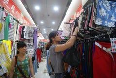 Shenzhen, China: clothing wholesale market Stock Photo