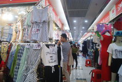 Shenzhen, China: clothing wholesale market Royalty Free Stock Photo