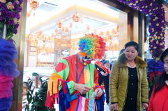 Shenzhen, China: clown promotions Royalty Free Stock Images