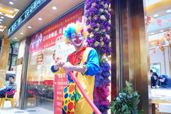 Shenzhen, China: clown promotions Stock Photo