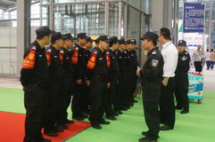 Shenzhen, China: collection of security guards Royalty Free Stock Images