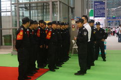 Shenzhen, China: collection of security guards Stock Image