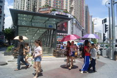 Shenzhen, China: commercial area of road traffic Stock Photography