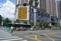 Shenzhen, China: commercial area of road traffic Royalty Free Stock Photos
