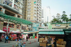 Shenzhen, China: commercial block Royalty Free Stock Photography
