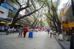 Shenzhen, China: commercial pedestrian street Stock Image