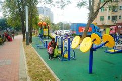 Shenzhen, China: community fitness facilities Stock Photography