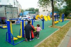Shenzhen, China: community fitness facilities Royalty Free Stock Photo