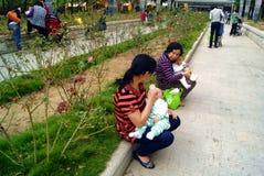 Shenzhen china: community park Royalty Free Stock Image