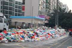 Shenzhen, China: Community rubbish Stock Photos