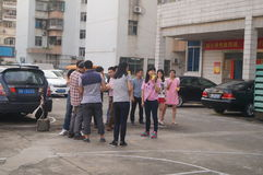 Shenzhen, China: company employees to carry out activities Stock Photo