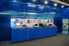 Shenzhen, China: computer mobile phone sales exhibition Stock Images